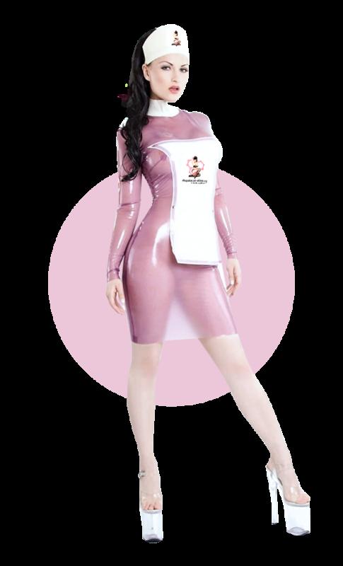 Kobieta latex - Wysoka - Transparent